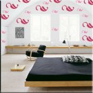 136 1 inch Leaf Vinyl Wall Decor Stickers