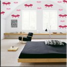 136 1 inch Space Ships Vinyl Wall Decor Stickers