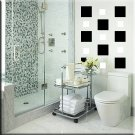24 4 inch Squares Vinyl Wall Decor Stickers