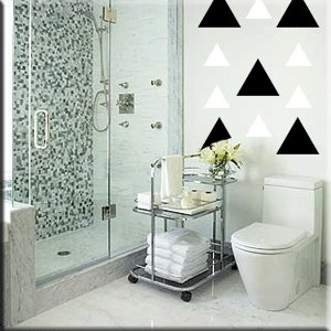 24 10 inch Triangles Vinyl Wall Decor Stickers