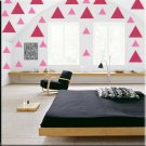 136 1 inch Triangles Vinyl Wall Decor Stickers
