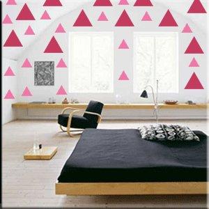32 2 inch Triangles Vinyl Wall Decor Stickers