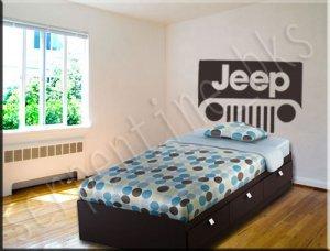 Jeep �Headboard� Wall Art Vinyl Decal Sticker Décor