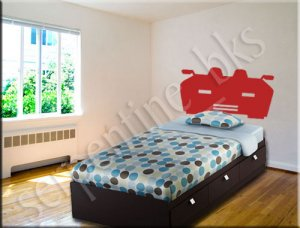 Ferrari �Headboard� Wall Art Vinyl Decal Sticker Décor