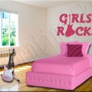 Girls Rock A Vinyl Wall Art Décor Decal Stickers Guitar