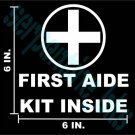 First Aide Decal Sign Window / Door Vinyl