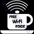FREE WI FI Window Decal Sticker Business Sign 19x19 - C