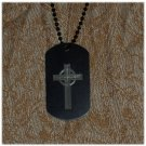 Cross #2 Engraved Dog Tag w/ chain Many Color Options