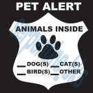 Emergency Pet Alert Dog Cat Safety Decal