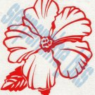 Hawaiian Flower L Car Vinyl Window Bumper Decal Sticker