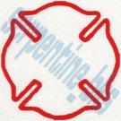 Fire Dept Logo Car Vinyl Window Bumper Decal Sticker