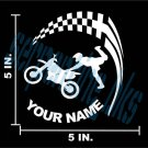 Motorcycle with your name Window Bumper Decal Sticker