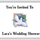 20 Personailized Wedding Shower Invitations w Envelopes