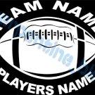 Custom Sports Football Vinyl Decal Team & Player