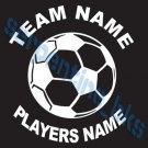 L Custom Sports Soccer Vinyl Decal Team & Player