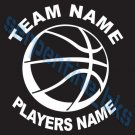 L Custom Sports Basketball Vinyl Decal Team & Player