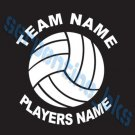 L Custom Sports Volleyball Vinyl Decal Team & Player