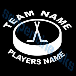 L Custom Sports Hockey Vinyl Decal Team & Players
