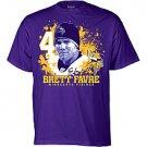 Minnesota Vikings Brett Favre Splash T-Shirt