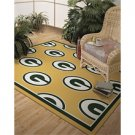 Green Bay Packers Repeat Alternate 10-Ft. 9-In. x 13-Ft. 2-In Area Rug