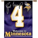 Minnesota Vikings Brett Favre 27x37 Flag