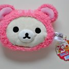 Korilakkuma Rilakkuma zippered plush coin pouch purse San-X relax bear squirrel