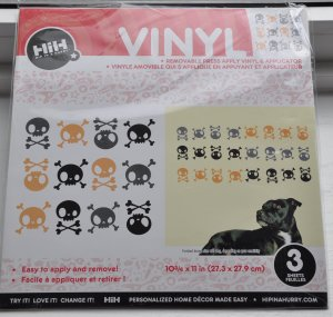 Hip in a Hurry Vinyl Wall Decal art stickers - Multi Skulls boys room
