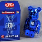 Be@rbrick S23 basic letter R bearbrick Mediacom Series 23 blue metallic bear brick