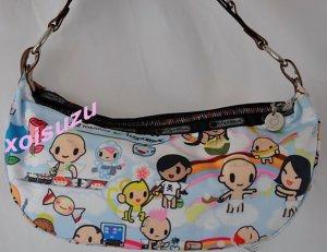 NEW Tokidoki Lesportsac Bella Hobo hand bag purse Paradiso angel babies