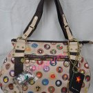 NEW Tokidoki zucca hand bag purse famiglia beige print