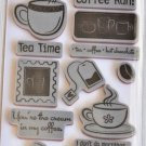 tpc studio Cafe Mocha Rubber Stamps the paper company 16 pcs