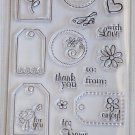 Fiskars Terrific Tags Clear stamps - 25 - thank you gift flowers