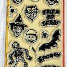 inkadinkado spooky & creepy halloween 18 clear stamps 99413