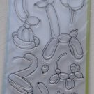 inkadinkado balloon animals 12 clear stamps 60-30491