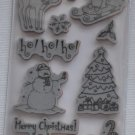 Recollections Cling Christmas Stamps 14 171846 tree holly reindeer snowman stocking