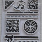 Fiskars Shapes n' such simple stick rubber stamps 18 circles frames floral