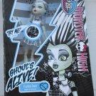 Monster High doll Ghouls Alive Frankie Stein light up spark