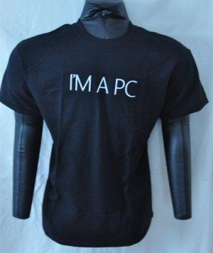 I'm a PC men's black promo promotional tshirt Large L microsoft windows store