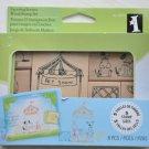 inkadinkado 8 wooden mounted stamp set 60-10079 pet show dog cat parrot