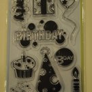 inkadinkado Birthday Fun 10 clear stamps 97716