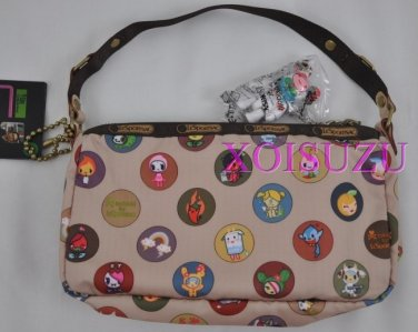 NEW Lesportsac for Tokidoki Dolce small hand bag famiglia brown print