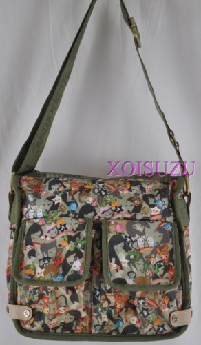 Tokidoki Stellina hand bag purse Olive Camo Playground green