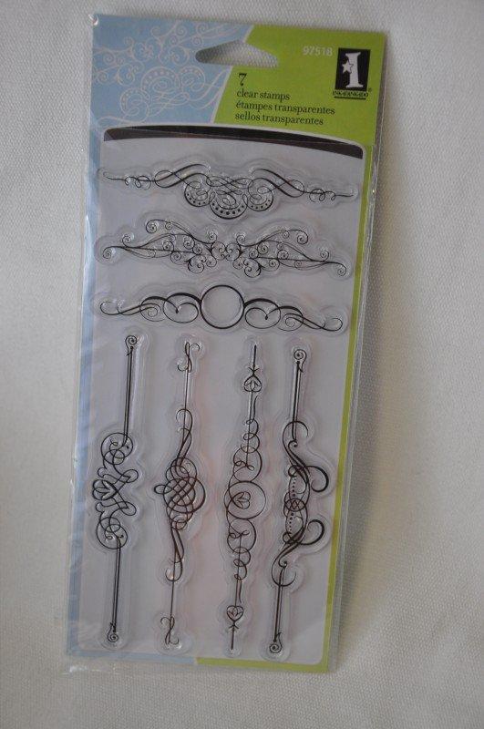 inkadinkado Ornate Flourish 7 clear stamps border