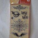 inkadinkado Creepy Crawly Halloween clear 7 stamp set spiderweb web bats spiders
