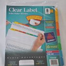 Avery 11419 Index Maker Clear Label Dividers - 8 Tabs