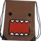 Domo Kun Japanese Character Drawstring Bag Brown by Concept One back sack