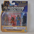 Guardians of the Galaxy Groot, Rocket Raccoon & Nova Corps Officer Action Figure Set