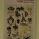 Stampendous Charm Collection - 20 clear stamps - crown eiffle tower france victorian