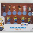 Despicable Me 2 Minion Mini Figurines 10 piece set Stuart Gru Unicorn Tim Dave Tom Agnes
