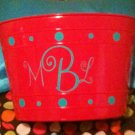 Monogram Initials Tub